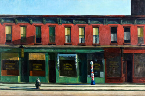 Early Sunday Morning United States Street Edward Hopper Fine Art FREE S/H in USA