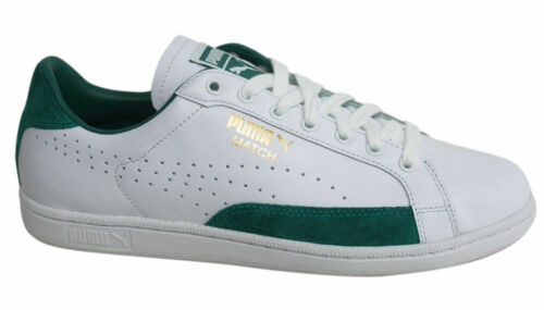 Puma Match 74 UPC Lace Up White Green Mens Leather Trainers 359518 06 M11