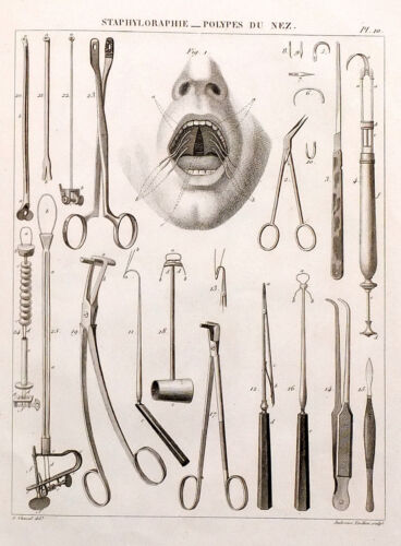 1832 France SURGERY MEDICINE with Engravings Antique Atlas Book Album French