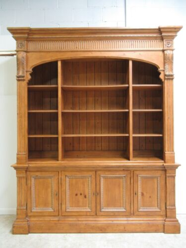 Ethan Allen Monumental Regency Bookcase China Cabinet Library Book Case