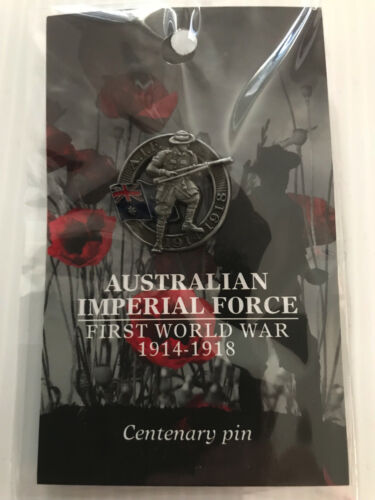 New Mint Sealed Australian Imperial Force 1914-1918 Centenary Pin WW1 Collectors
