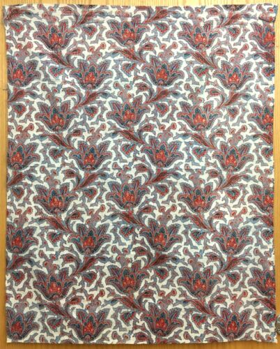 Beautiful 19th C. French Cotton Printed Paisley Fabric (2091)