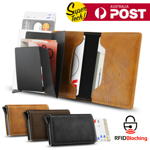 New Leather Credit Card Holder Men's Money cash Wallet Clip RFID Blocking Purse <br/> High Quality✔Sydney Stock✔Fast Delivery✔
