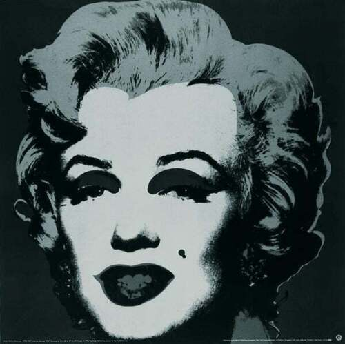Marilyn Black (Large) by Andy Warhol Art Print Offset Lithograph Poster 38x38
