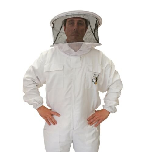 Beekeeping White Round Veil Suit - Choose Your Size