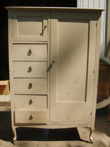 Vintage Armoire 4 drawers, 1 Cubbie and 1 Hanging Area for Clothes