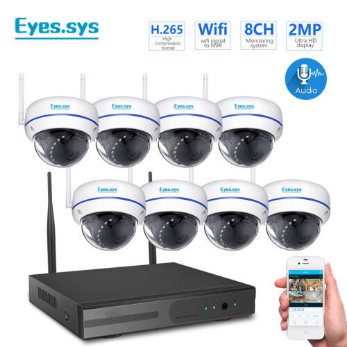 8CH 960P Wireless NVR 8pcs 1.0MP Wifi IP Camera CCTV Home Security System US