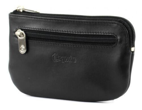 Esquire New Silk Key Case with Zip Black