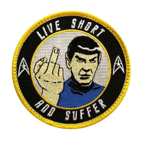 Spock Star Trek Live short and Suffer Embroidered Hook PATCHArmy - 48824