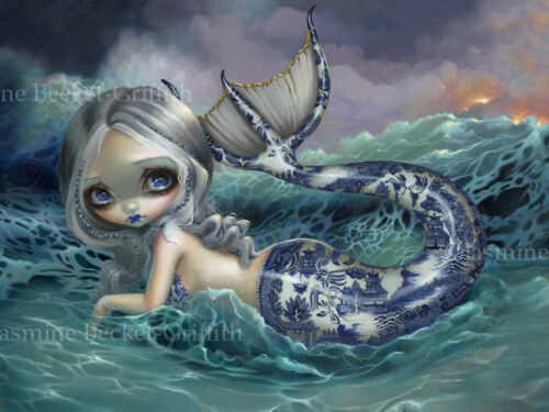 Jasmine Becket-Griffith art print SIGNED Porcelina porcelain china mermaid tail