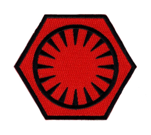 FIRST ORDER EMBROIDERED 3.5 INCH IRON ON SEW ON PATCH  (RED/BLK)