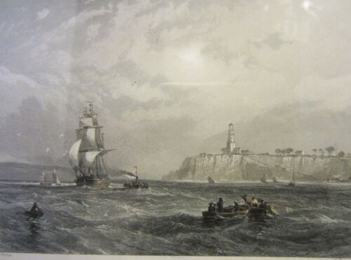 """Collectable an Antique """"Port Phillip Heads"""" Print 1873"""