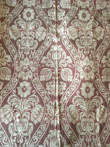 Absolutely Beautiful Important 19th C. French Cotton Woven Damask  - (2443)