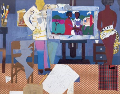 Profile/Part II The Thirties Artist with Painting and Model Romare Bearden 11x14