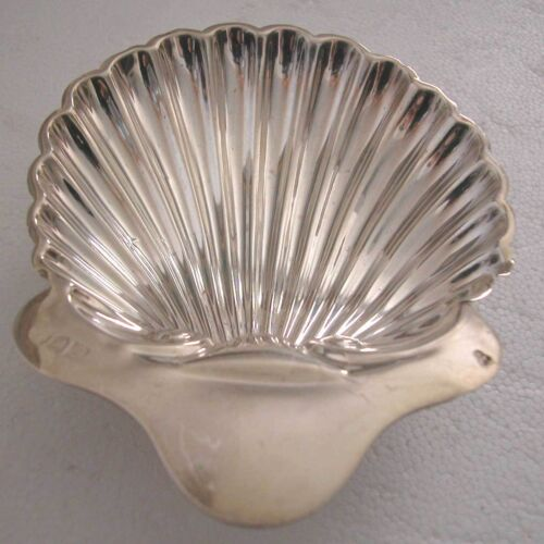 U.K-EARLY 20TH CENTURY STERLING SMALL DISH-ASHTRAY OR PLATTER ON 3 BALL LEGS