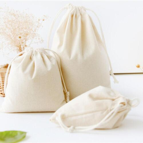 Reusable Friendly Canvas Fabric Eco Shopping Bag Grocery Tote Storage Bags
