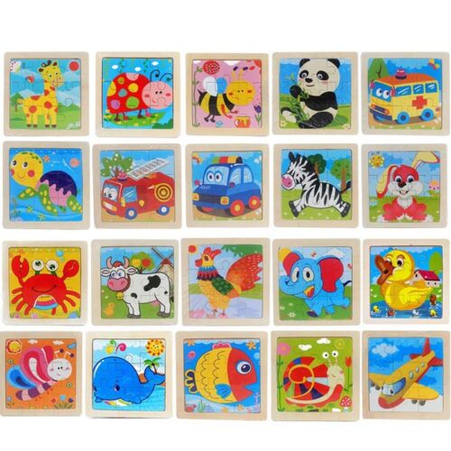 Kids Toy Wood Puzzle Wooden 3D Puzzle for Children Baby Cartoon Educational Toy