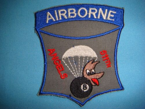 PATCH US ARMY 511th PARACHUTE INFANTRY REGIMENT AIRBORNE ANGELSArmy - 66529