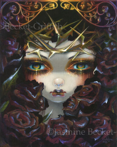 Jasmine Becket-Griffith art print SIGNED The Language of Flowers VI: Black Roses