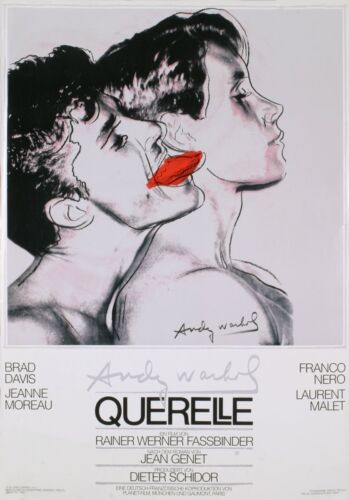 ANDY WARHOL - Querelle (White) Original 1982 Poster Art Print ** Extremely Rare