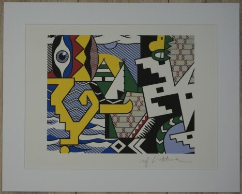 "Roy Lichtenstein ""Pow Wow"" Lithograph plate signed"