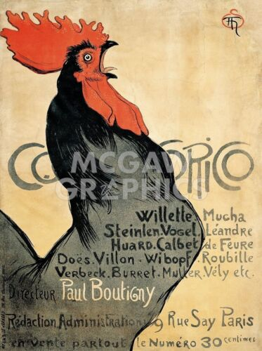 Cocorico, 1899 Theophile-Alexandre Steinlen Art Print French Opera Poster 11x14