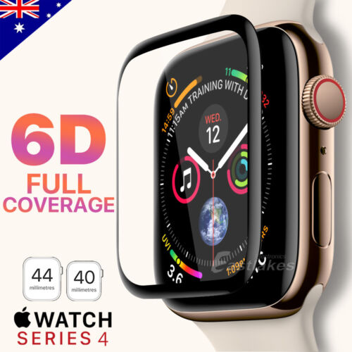 For Apple Watch iWatch 6 5 4 SE 44 &40 mm Tempered Glass FULL Screen Protector