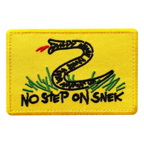 No Step on Snek Tactical Patch [3.0 X 2.0-Hook fastener SN-2]Army - 48824