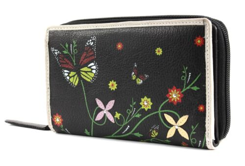 bruno banani Borsa Butterfly Zip Around Black