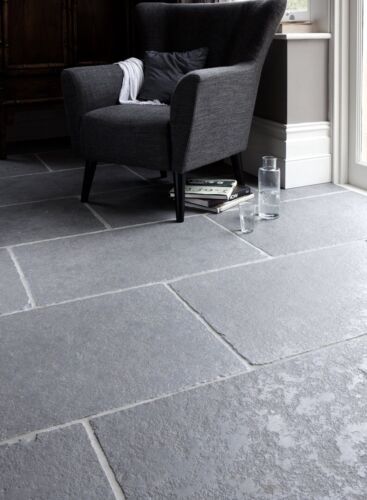 Sample of Tumbled Ash Grey Limestone Floor Tiles & Paving Slabs Aged Flagstones <br/> ONLY £28.95 PER M2, PREMIUM QUALITY, 100% ++ FEEDBACK!