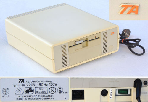 "Vintage Collector's Item External Fdd Floppy Disk Drive TA 5,25 "" Edk 120W #L141"