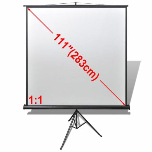 """Projector Screen Tripod Stand 111"""" 1:1 Home Theatre Office HD Movie Projection"""