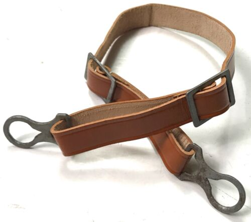 WWI GERMAN M17 M18 HELMET LINER LEATHER CHINSTRAP-LIGHT BROWNGermany - 156409
