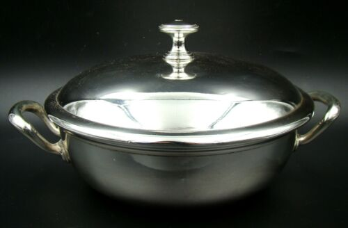 Antique Classic French Christofle Silver Plate Vegatable Covered Tureen MINT