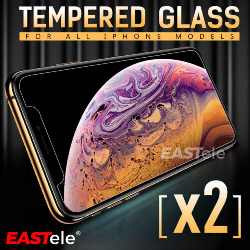 2x GENUINE EASTele Apple iPhone 8 Plus 7 6s Plus Tempered Glass Screen Protector