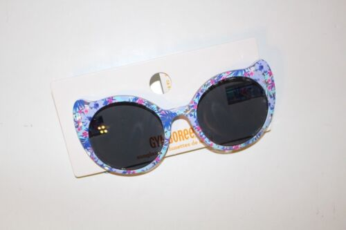 e7c1f89d51a6 Gymboree Cat Eye Sunglasses Girls 4 and up Sunglasses NEW Blue Floral NWT
