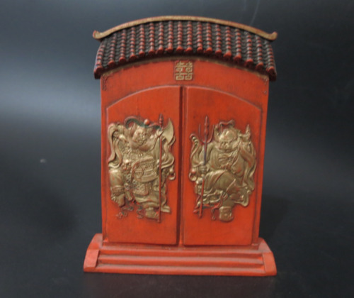 ANTIQUE QING CHINESE CARVED CINNABAR INK STICK WITH GUANGXU MARK 开门见喜