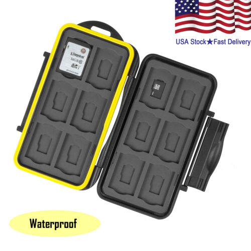 Water-Resistant Memory Micro SD Card Case Storage Holder 24 Slot Set Waterproof