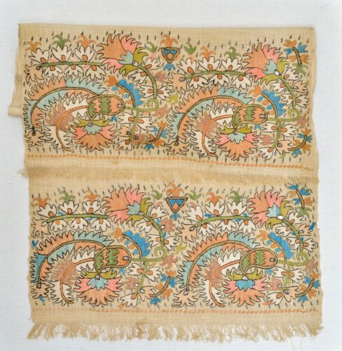 LARGE AND EXCEPTIONAL MUSEUM ANTIQUE OTTOMAN GREEK YAGLIK EMBROIDERY SUZANI