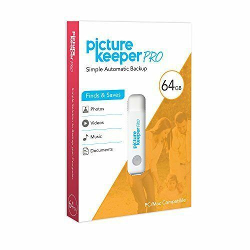 Picture Keeper PRO 64gb PC/Mac Smart Backup Flash Drive Photo/Videos/Music/Docs