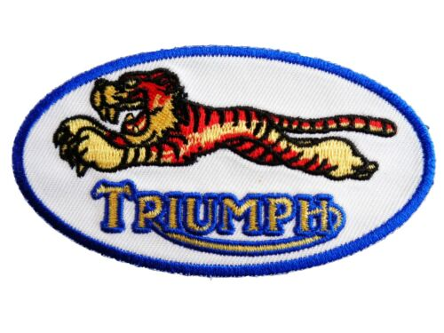 Triumph tiger Motorcycles Racing Embroidered iron on Sew on 4 inch Biker Patch