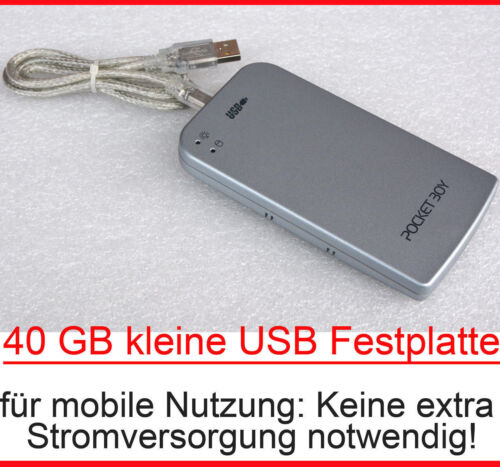 "40GB Light Compact External Ide USB Hard Drive 6,35cm 2,5 "" Power Over USB New"