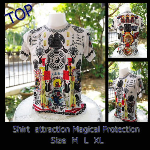 Rare Thai Amulet Holy Shirt attraction Magical Protection Lucky Bless By Aj Mom
