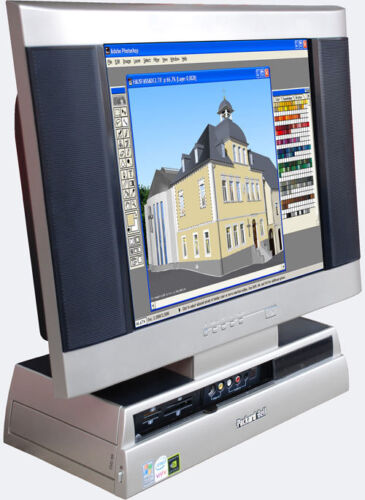 Gamer Pc DVD Recorder LCD Tv Monicomputer All-In-One S9200 4 Gb Ram Small Silent