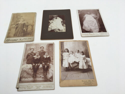 EARLY CABINET CARD PHOTOGRAPHS OF CHILDREN BOYS AND GIRLS