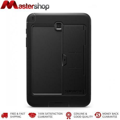 Griffin Survivor Tough & Rugged Slim Case Galaxy Tab A 8.0 2015 - 2016 - Black