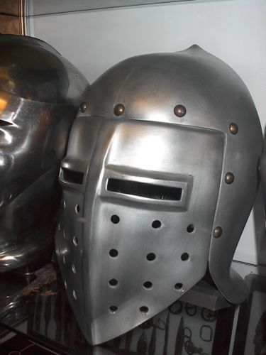 knights helmet from an unknown production larpReenactment & Reproductions - 156374