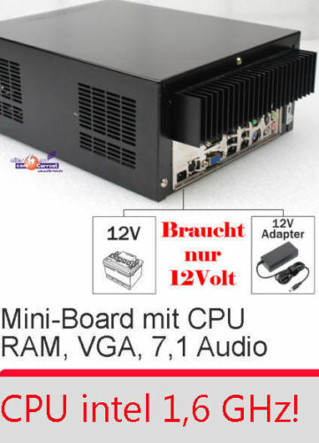 Small 17x17cm Motherboard Aopen i915GMt-FS VGA Svgaout 1,6GHZ CPU 12V Power
