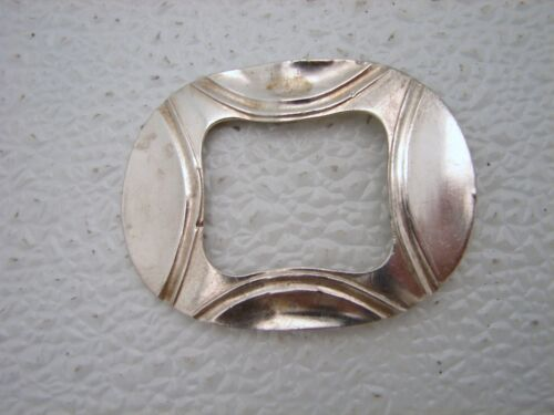Danish Sterling Silver Buckle with Maker's Mark OLD c1793 Ole Lindal