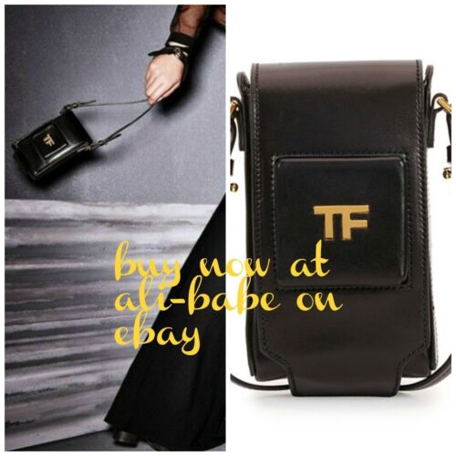 d5fc21d1dc78 Tom Ford Black Black camera style case crossbody satchel New fanny pack